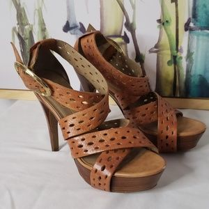 Jessica Simpson Leather Annetty Heels Size 8